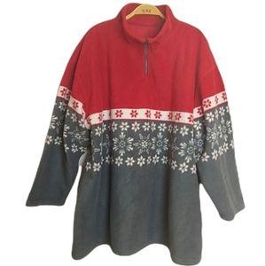 Vintage 1/4 Zip Fleece sweater